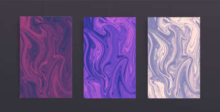 Trendy cover design with liquid background. Marble vector texture