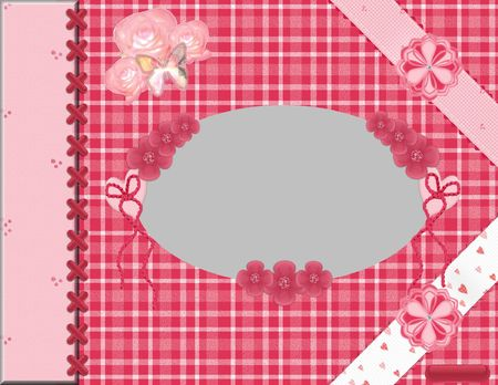 layout: Oval Scrapbook LayOut