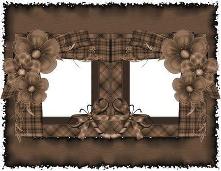Sepia Scrapbook Frames