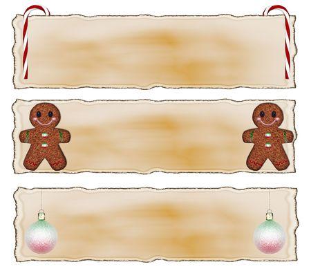 element: Christmas Scrap Headers