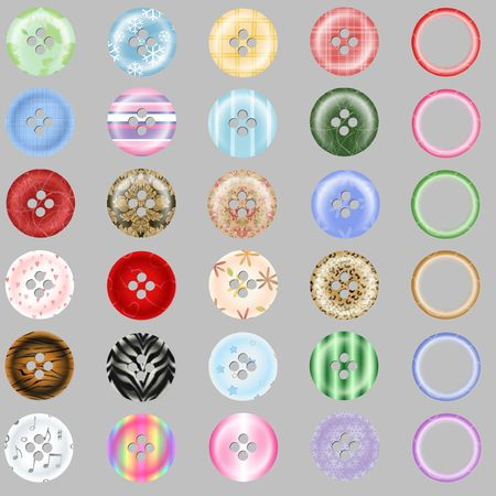 Pattern Digital Scrapbook Buttons and Rings