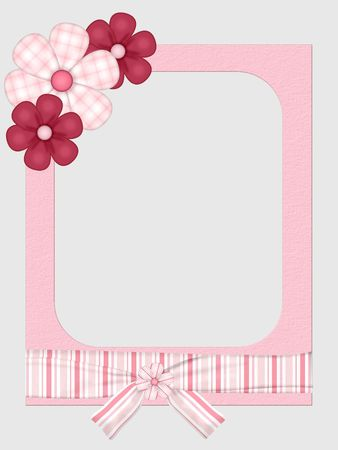 Pretty in Pink Wrapped Frame photo
