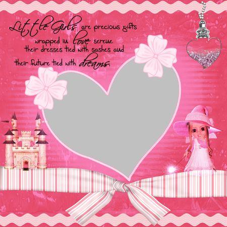 Princess Pink Scrapbook Quick Page photo