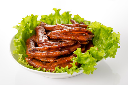 trotter: Stewed duck trotter , Chinese cuisine.