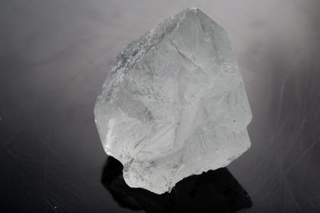 rock sugar in black background photo