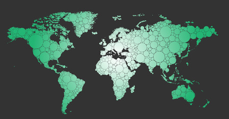 smallest: A detailed vector world map which includes even the smallest of islands