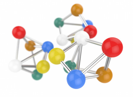 molecular structure: very colorful Molecular structure isolated
