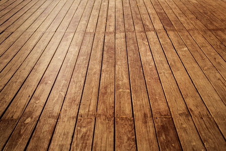 wooden floors: nature good Perspective warm wooden floor texture Stock Photo
