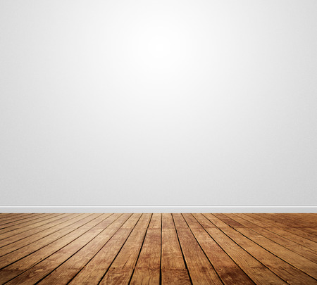 wood floor: nature good Perspective warm wooden floor texture Stock Photo