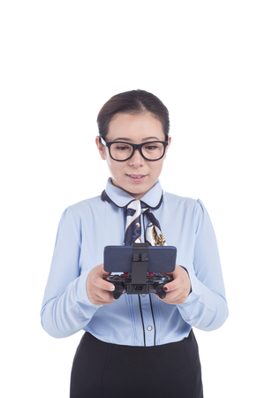 joypad: girl use cellphone with joypad