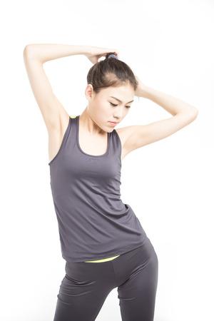 ropa deportiva: picture of beautiful athletic woman in sportswear Foto de archivo