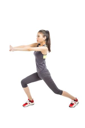 ropa deportiva: picture of athletic woman in sportswear Foto de archivo