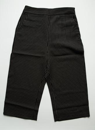 capri pants: Capri trousers on white