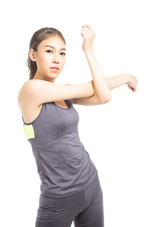 ropa deportiva: imagen de la mujer atlética en ropa deportiva