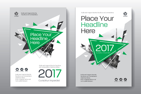 adapt: Green Color Scheme with City Background Business Book Cover Design Template in A4. Easy to adapt to Brochure, Annual Report, Magazine, Poster, Corporate Presentation, Portfolio, Flyer, Banner, Website