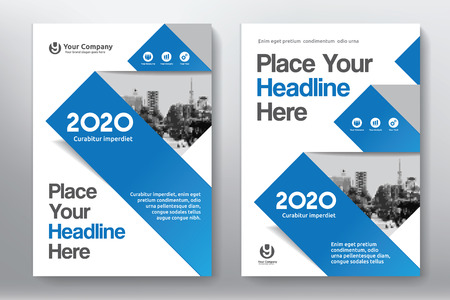 Blue color scheme with city background business book cover design blue color scheme with city background business book cover design template in a4 easy to maxwellsz