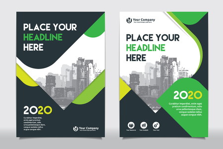 Green color scheme with city background business book cover design green color scheme with city background business book cover design template in a4 easy to maxwellsz
