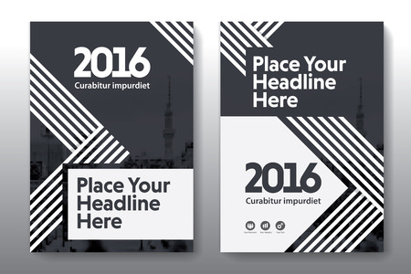 adapt: Black Color Scheme with City Background Business Book Cover Design Template in A4. Easy to adapt to Brochure, Annual Report, Magazine, Poster, Corporate Presentation, Portfolio, Flyer, Banner, Website.