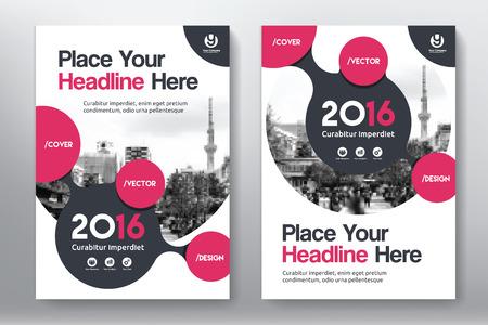 Rood kleurenschema met de Stad Achtergrond Book Cover Design Template in A4. Eenvoudig aan te passen aan brochure, jaarverslag, tijdschrift, Poster, Corporate Presentatie, Portfolio, Flyer, Banner, Website.