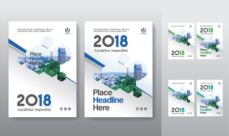 Set of city background business book cover design template in A4. Can be adapt to Brochure, Annual Report, Magazine,Poster, Corporate Presentation, Portfolio, Flyer, Banner, Website.