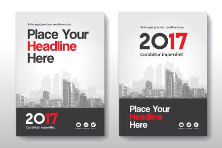 Sfondo di città Business Book Cover Design Template in A4. Può essere adattabile a Brochure, Report annuale, Rivista, Poster, Presentazione aziendale, Portfolio, Flyer, banner, sito web. Archivio Fotografico - 76543621