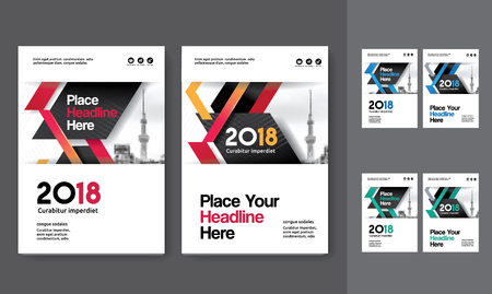 Sfondo di città Business Book Cover Design Template in A4. Può essere adattato a Brochure, Report annuale, Rivista, Poster, Presentazione aziendale, Portfolio, Flyer, banner, sito web Archivio Fotografico - 80906741