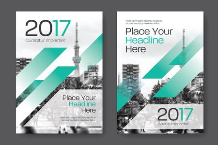 Sfondo di città Business Book Cover Design Template in A4. Può essere adattato a Brochure, Report annuale, Rivista, Poster, Presentazione aziendale, Portfolio, Flyer, banner, sito web Archivio Fotografico - 80906738