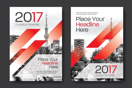 Sfondo di città Business Book Cover Design Template in A4. Può essere adattato a Brochure, Report annuale, Rivista, Poster, Presentazione aziendale, Portfolio, Flyer, banner, sito web Archivio Fotografico - 80906737