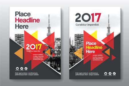 Sfondo di città Business Book Cover Design Template in A4. Può essere adattato a Brochure, Report annuale, Rivista, Poster, Presentazione aziendale, Portfolio, Flyer, banner, sito web Archivio Fotografico - 80906744