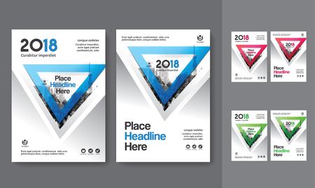 Sfondo di città Business Book Cover Design Template in A4. Può essere adattato a Brochure, Report annuale, Rivista, Poster, Presentazione aziendale, Portfolio, Flyer, banner, sito web Archivio Fotografico - 80906748