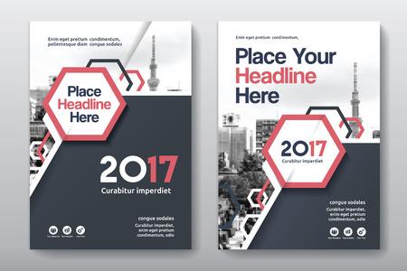 Sfondo di città Business Book Cover Design Template in A4. Può essere adattato a Brochure, Report annuale, Rivista, Poster, Presentazione aziendale, Portfolio, Flyer, banner, sito web Archivio Fotografico - 80906749