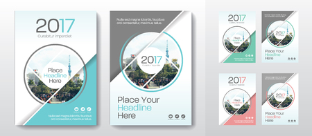 Sfondo di città Business Book Cover Design Template in A4. Può essere adattato a Brochure, Report annuale, Rivista, Poster, Presentazione aziendale, Portfolio, Flyer, banner, sito web Archivio Fotografico - 80906754