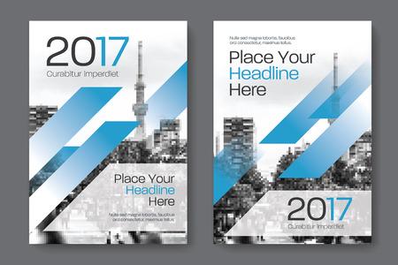 Sfondo di città Business Book Cover Design Template in A4. Può essere adattato a Brochure, Report annuale, Rivista, Poster, Presentazione aziendale, Portfolio, Flyer, banner, sito web Archivio Fotografico - 80906761
