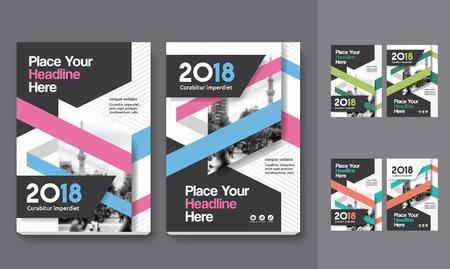 Sfondo di città Business Book Cover Design Template in A4. Può essere adattato a Brochure, Report annuale, Rivista, Poster, Presentazione aziendale, Portfolio, Flyer, banner, sito web Archivio Fotografico - 80906765