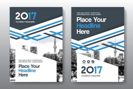 Sfondo di città Business Book Cover Design Template in A4. Può essere adattato a Brochure, Report annuale, Rivista, Poster, Presentazione aziendale, Portfolio, Flyer, banner, sito web Archivio Fotografico - 80906769
