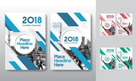 Sfondo di città Business Book Cover Design Template in A4. Può essere adattato a Brochure, Report annuale, Rivista, Poster, Presentazione aziendale, Portfolio, Flyer, banner, sito web Archivio Fotografico - 80906772