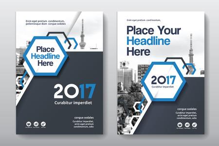 Sfondo di città Business Book Cover Design Template in A4. Può essere adattato a Brochure, Report annuale, Rivista, Poster, Presentazione aziendale, Portfolio, Flyer, banner, sito web Archivio Fotografico - 80906784
