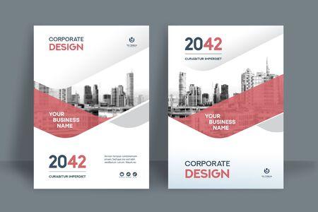 Modèle de conception de couverture de livre d'entreprise au format A4. Peut être adapté à une brochure, un rapport annuel, un magazine, une affiche, une présentation commerciale, un portefeuille, un dépliant, une bannière, un site Web. Vecteurs
