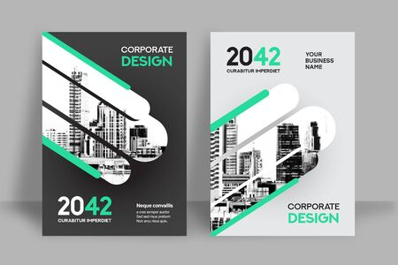 Corporate Book Cover Design Template in A4. Can be adapt to Brochure, Annual Report, Magazine,Poster, Business Presentation, Portfolio, Flyer, Banner, Website. Vektorové ilustrace