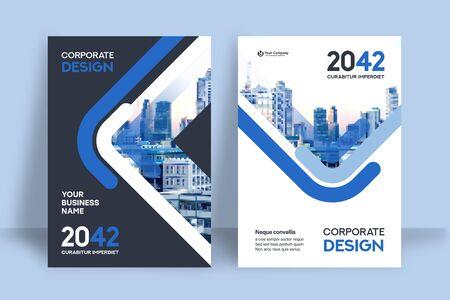 Corporate Book Cover Design Template in A4. Can be adapt to Brochure, Annual Report, Magazine,Poster, Business Presentation, Portfolio, Flyer, Banner, Website. Ilustración de vector