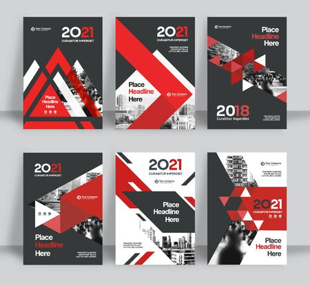 Corporate Book Cover Design Template Set. A4 format. 6 Designs Included. Can be adapt to Brochure, Annual Report, Magazine,Poster, Business Presentation, Portfolio, Flyer, Banner, Website.