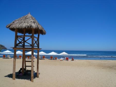 palapa: Palapa lifeguard station on the beach Sayulita Nayarit Mexico