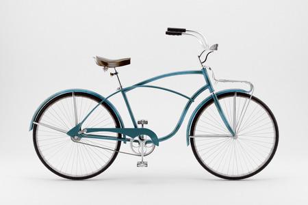 Retro styled image of a nineteenth century bicycle isolated on a white background photo
