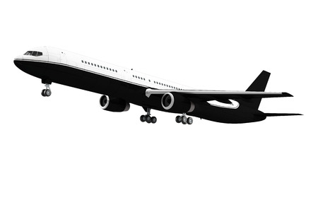 Large passenger airplane isolated on white background photo