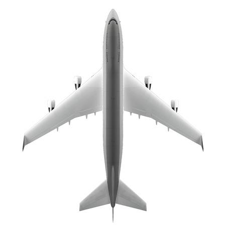 Large passenger airplane isolated on white background