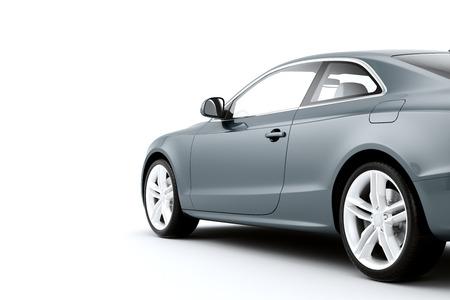 Geïsoleerde sport auto op een witte achtergrond