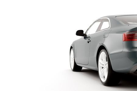 白い背景の上の隔離されたスポーツ車