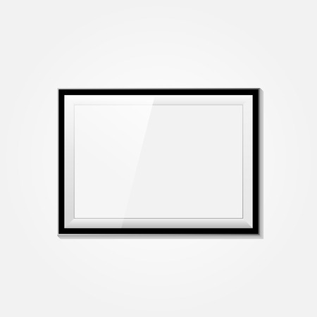 3d Picture Frame Design For A4 Or A3 Image With Text On A White