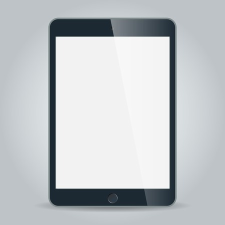 Realistic black tablet with blank screen isolated on white Stock Vector - 29113774
