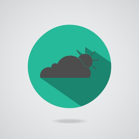 clean environment: Vector abstract concept black cloud on gray background illustration. Set cloudscape. Magic cloudy clean environment. Your creative conceptual presentation for website internet. Teal button. Illustration